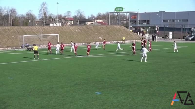 Гол Эрика Азизяна в ворота сборной «Латвии (U19)»
