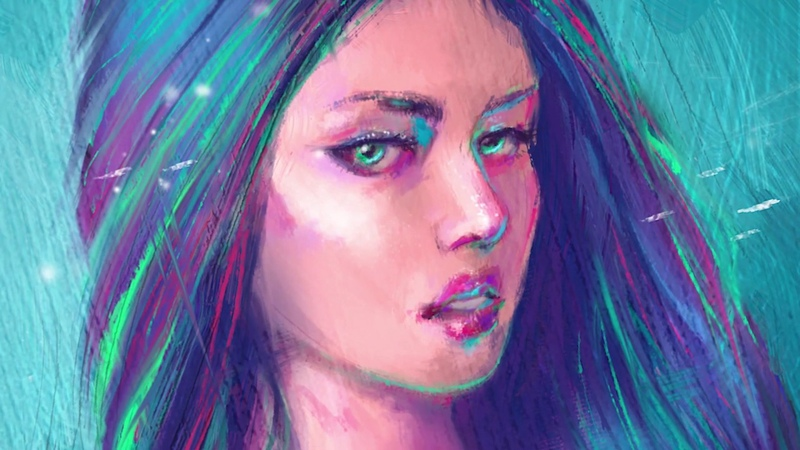 Speed Art photoshop Oil painting Portrait of a girl