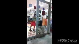 #fight store clerk locks guy in the store for stealing and beats him down. 18+