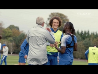 Funny luiz two touch challenge, ampadus punishment! chelsea unseen