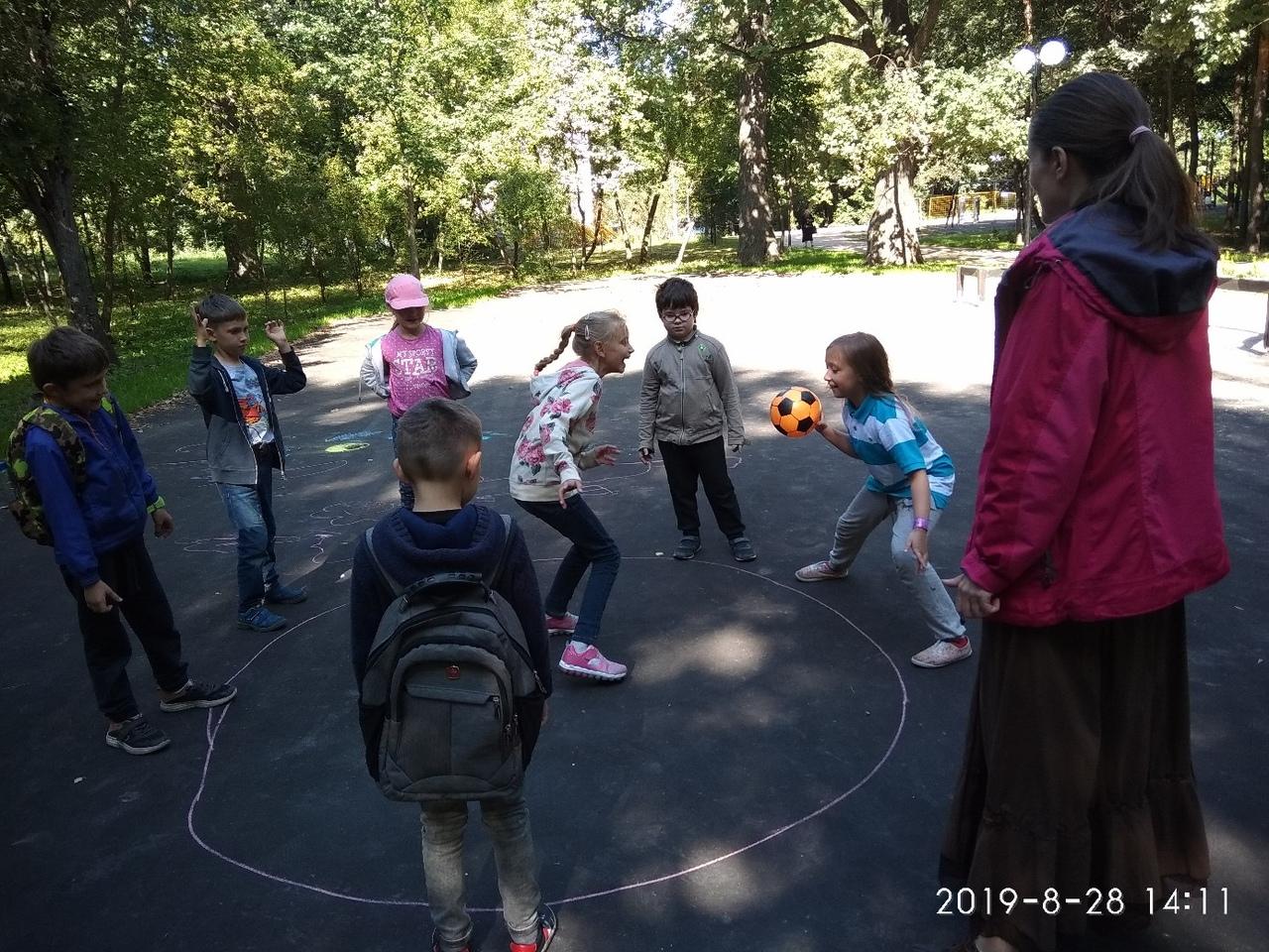 мероприятие в Ивановском парке - игры для детей