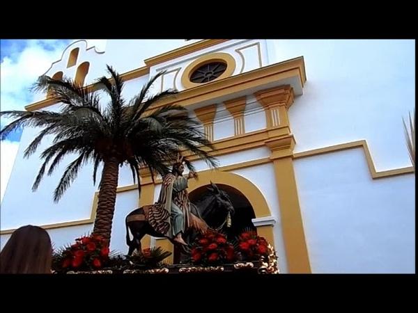 Pollinica ALHAURIN de la TORRE 2018 Entrada a la iglesia marcha REAL Domingo de Ramos 25 03