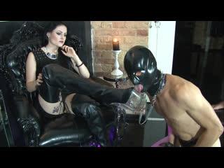 Mistress Blackdiamoond – Boot jerk-off instruction [FEMDOM POV, JERK OFF INSTRUCTION, MASTURBATION HUMILIATION, CUM EATING]