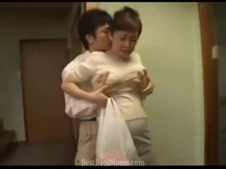 Japanese Mom an her Young Son