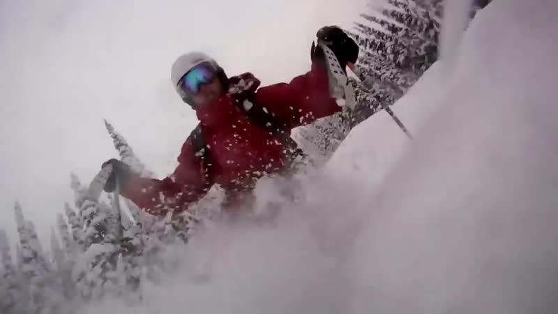 Убойный фрирайд на горных лыжах