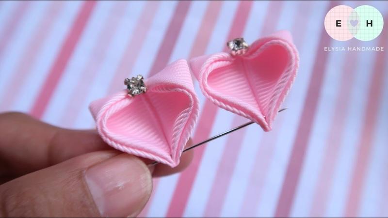 Amazing Kanzashi Flower - Hand Embroidery Works - Ribbon Tricks Easy Making Tutorial 28