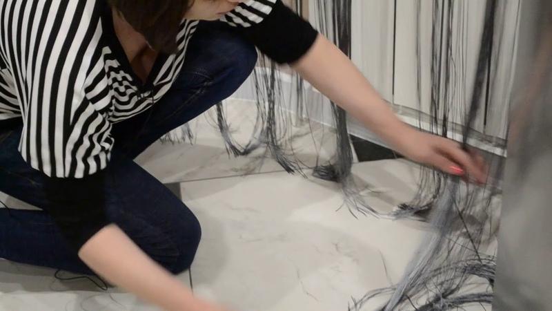 Как правильно обрезать нитяные шторы по длине
