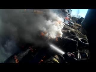 Fireman/ горит трава,мусор. работа с свд (ствол высокого давления)