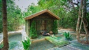 Build The Most Amazing Bamboo Cabin Villa with thousands Fishes Pond Over Secret Basement Tunnel