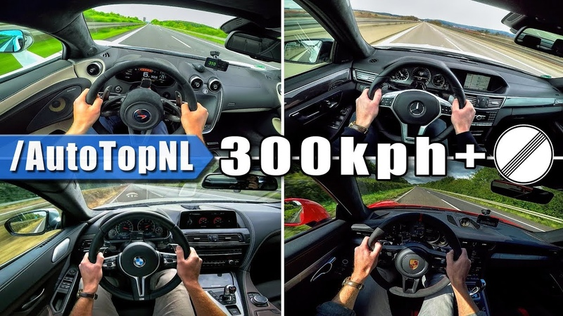AUTOBAHN POV 300 km h ACCELERATION TOP SPEED Compilation by AutoTopNL