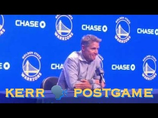 "Steve Kerr postgame: ""This is more the reality of the NBA…starting over"""
