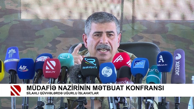 Müdafiə nazirinin mətbuat konfransı