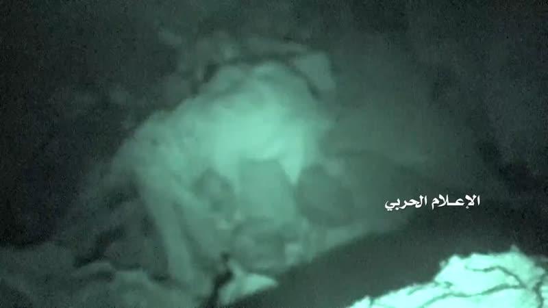 Ночной рейд хуситов на позиции хадистов на границе с Наджраном