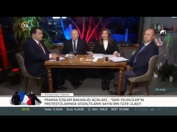 24 TV DE 24 Kafe Abdullah Çiftci Fahri Erenel Sedat Aybar 09 11 2018 Gündemi Yorumluyorlar