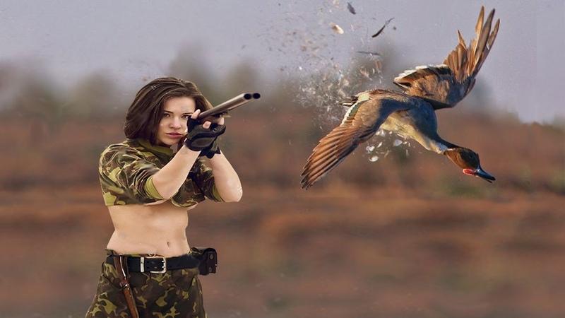 Картинка охотника стреляющего в птицу