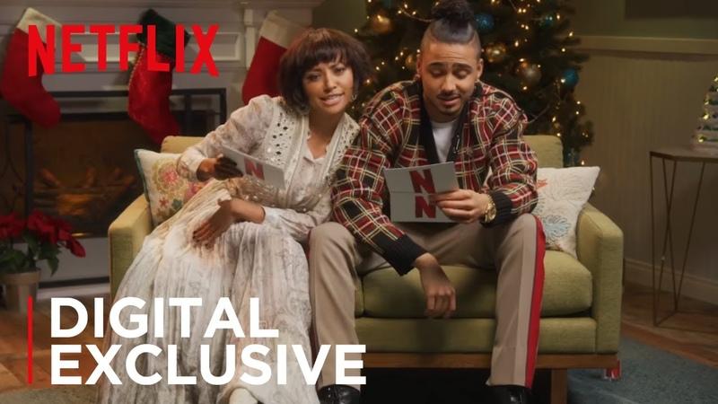 Kat Graham Quincy Brown Crazy Christmas Carol Reading The Holiday Calendar Netflix