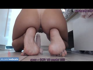 Ezra - riding dildo [solo, masturbation, toys, girl, tits, ass, fingering]