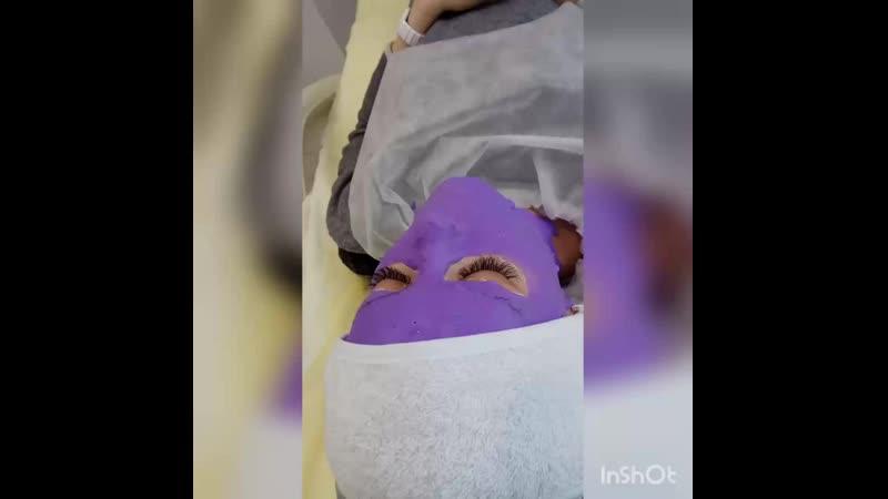 Альгинатня пластифицирующая антикуперозная маска с черникой, миоксинолом и витамином С
