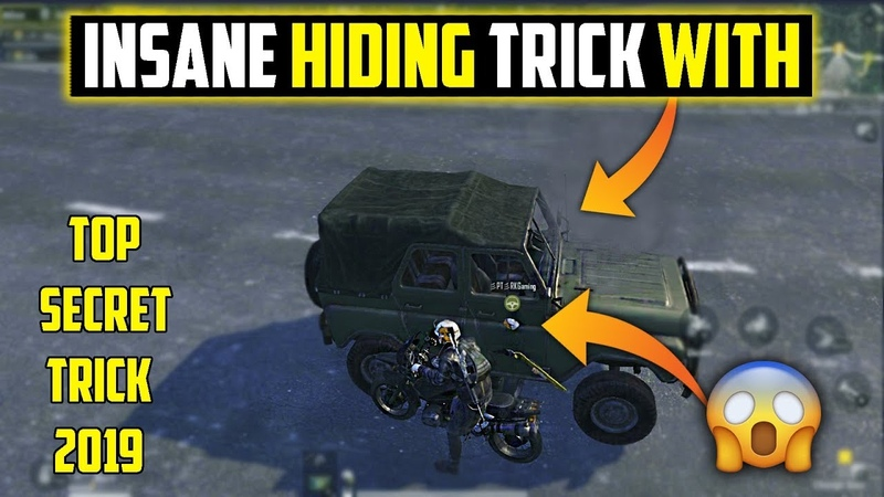 NEW 2019 HIDING TRICK WITH UAZ and BIKE PUBG MOBILE ONLY 0.001% PEOPLE KNOW THIS TRICK