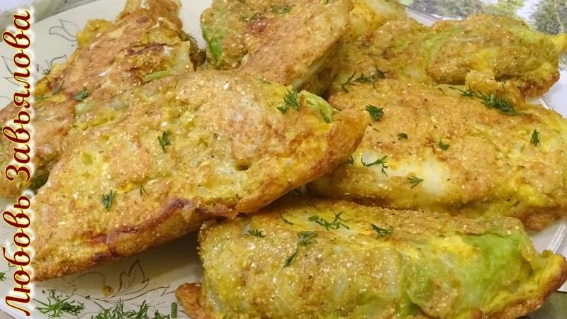 Шницель из молодой капусты/Cabbage Schnitzel