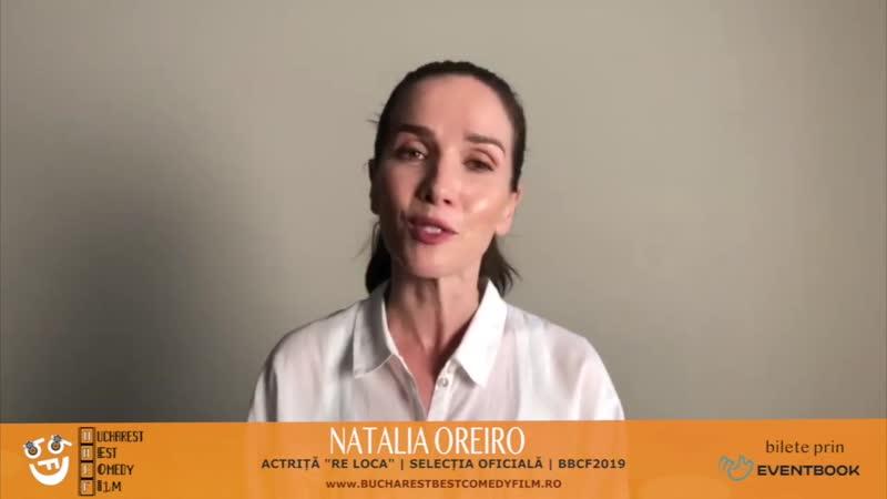 NATALIA OREIRO salută Bucureștiul