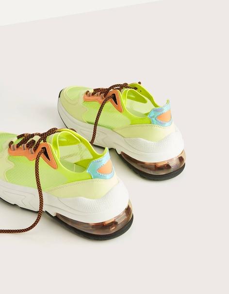 Полупрозрачные кроссовки неонового цвета image 2