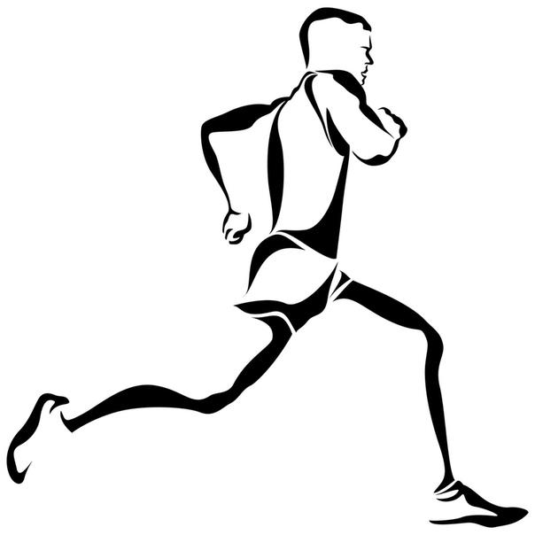бегущий человек картинка рисунок время пряники делали