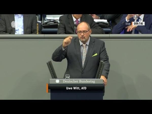 Ich hoffe schnellstens auf Neuwahlen Uwe Witte, AfD 13.09.2019