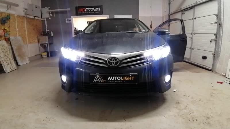Toyota Corolla Установка линз в секции ближнего и дальнего света