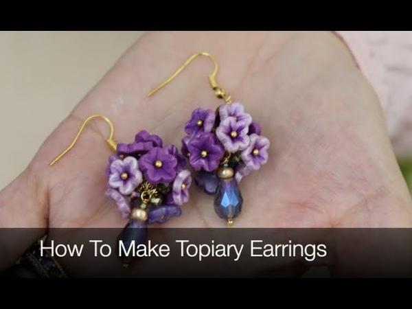 How To Make Polymer Clay Topiary Earrings Jewelry Tutorial