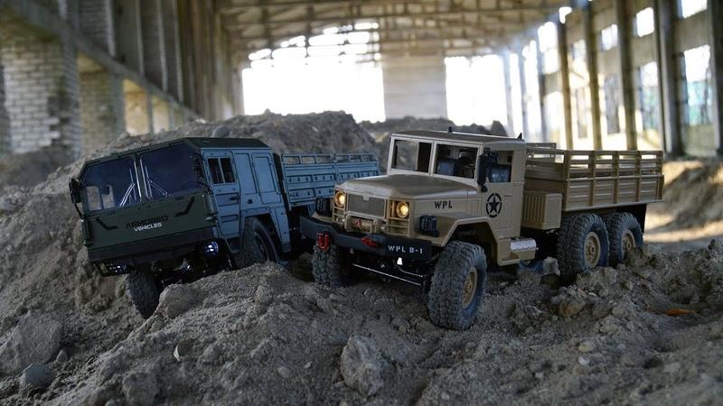 Сравнение двух стоковых тачек - JJRC Q64 и WPL B16. Основные отличия между грузовиками!