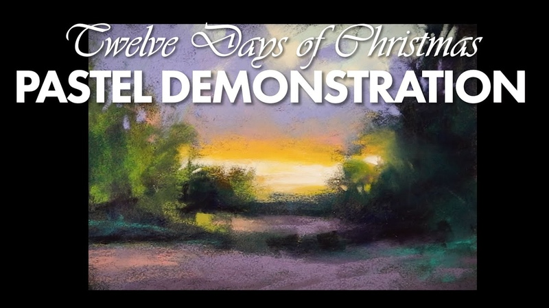 Tenth Day of Christmas Pastel Painting Demo