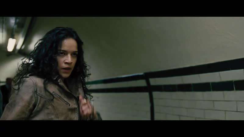 Летти против Райли драка в метро (форсаж) 6 2013 1080р