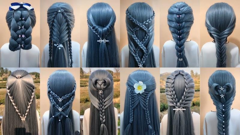 28 Kiểu tết tóc đẹp đơn giản dễ làm cho bạn gái | Easy Braided Hairstyles For Girls 45
