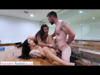 Avery Black and Brooklyn Gray [All Sex, Hardcore, Blowjob, Threesome]