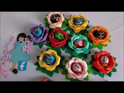 DIY Lembrancinha Para o Dia Da Mulher Porta Bombom Flor.