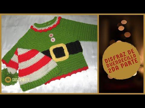 Disfraz de duendecillo tejido a crochet Segunda parte