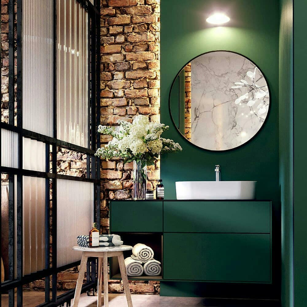 Насыщенный зеленый в дизайне спальни