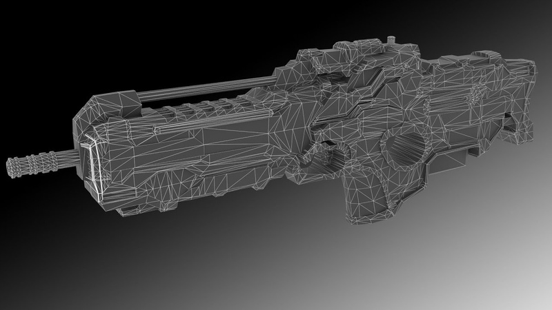 Sci-fi weapon hard surface modeling in 3Ds max – part 2