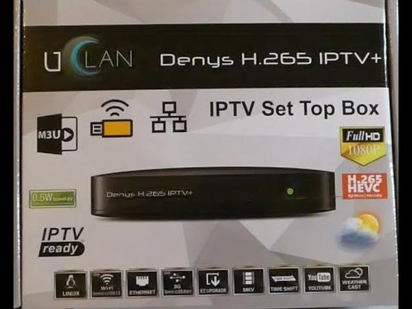 UClan Denys H.265 IPTV обзор и настройка. Review uClan Denys H.265 IPTV