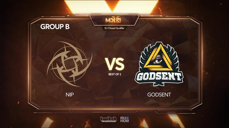 Ninjas in Pyjamas vs Godsent, MDL Chengdu Major Qualifier, bo2, game 1 [4ce]