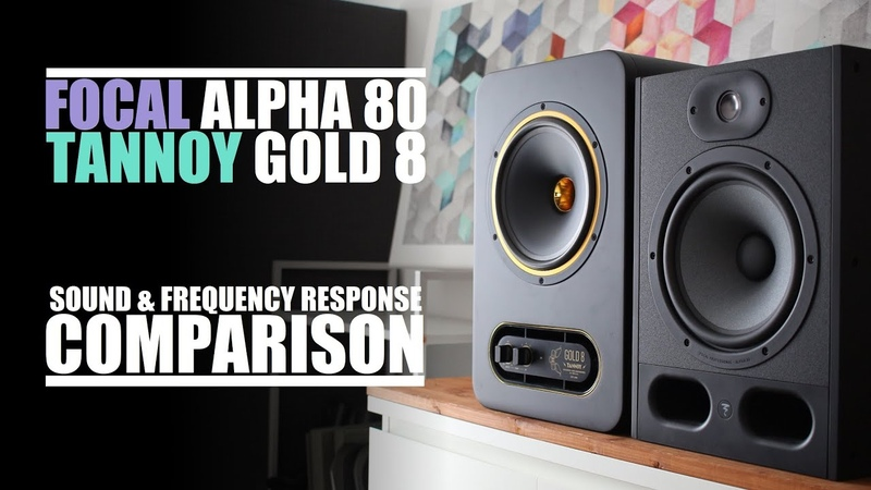 Focal Alpha 80 vs Tannoy Gold 8 Sound Frequency Response Comparison