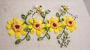 Bordado a mano: puntada decorativa22/fácil de hacer/Ribbon embroidery border/stitch decorative/Diy