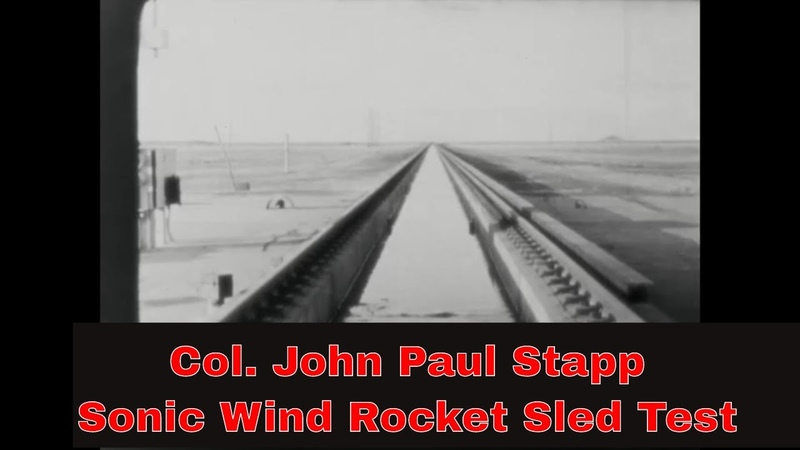 RAW FOOTAGE OF DEC. 10th 1954 ROCKET SLED TEST DR. JOHN PAUL STAPP HOLLOMAN NEW MEXICO 43414