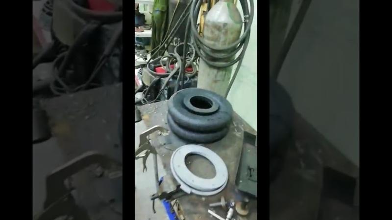 Как монтировать фланцы и кольцо на пневмобаллон