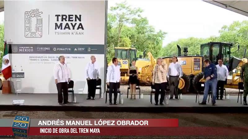 AMLO inicio de obra del TrenMaya desde Lázaro Cárdenas Quintana Roo @lopezobrador
