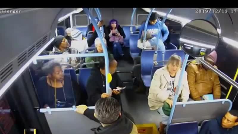 Argy bargy on the bus in Las Vegas and Detroit. Fellas gittin jiggy.