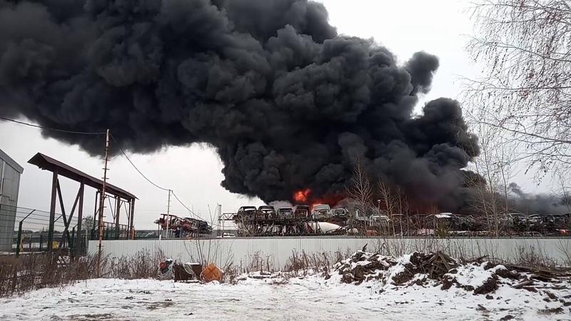 Большой пожар на Эльмаше 11.12.2019