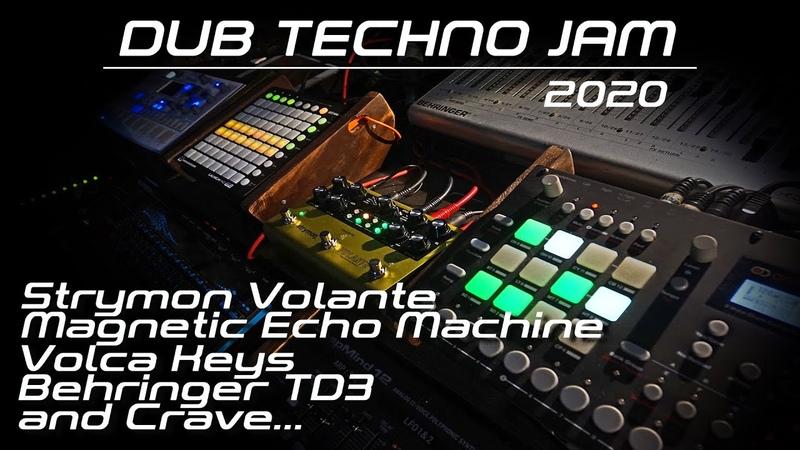 Dub Techno Jam With Strymon Volante Delay Volca Keys Behringer TD 3 Crave Analog RYTM