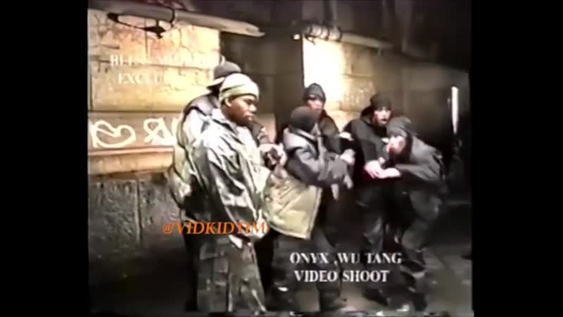 ONYX Wu Tang Clan The Worst videoshoot at Chinatown Manhattan NYC January 1998